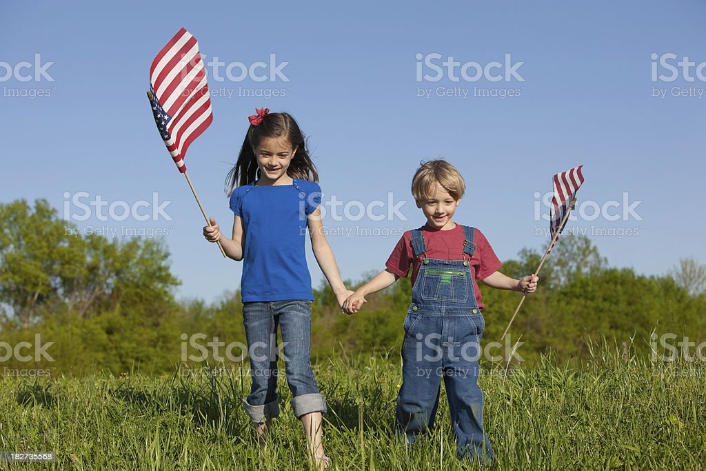 Happy Fourth of July Children royalty-free stock photo