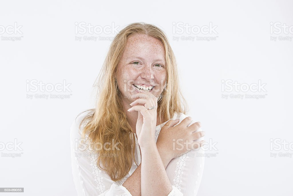 Happy Freckle Face royalty-free stock photo