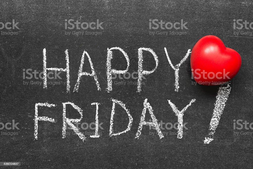 happy Friday stock photo