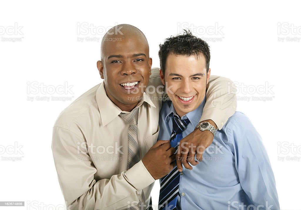 Happy friendly co-workers royalty-free stock photo