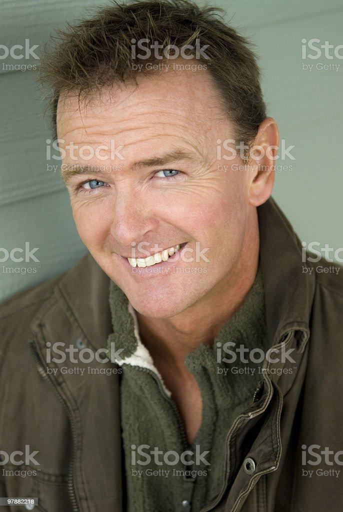happy friendly man royalty-free stock photo