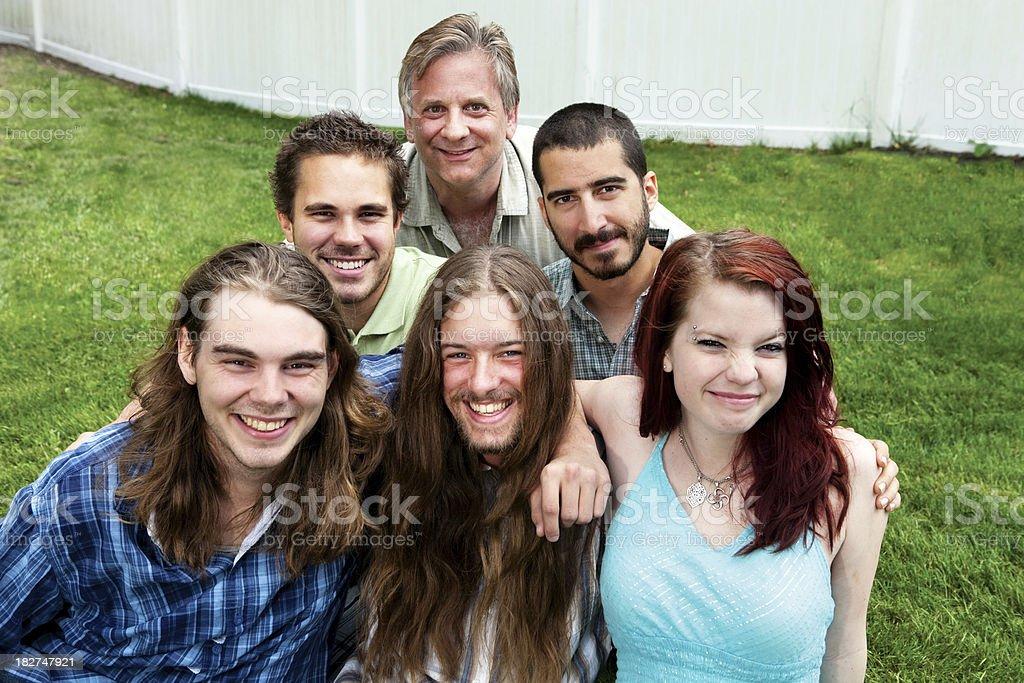 Happy friends closeup royalty-free stock photo