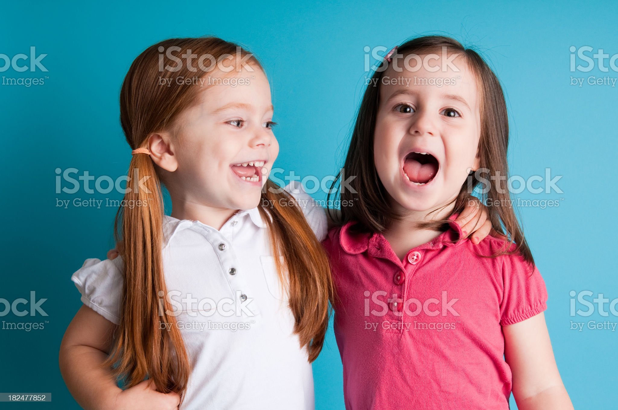 Happy Friends Hugging and Laughing royalty-free stock photo