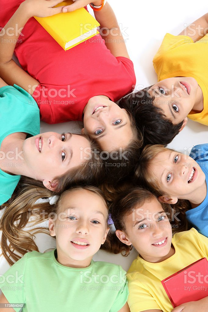 Happy friends royalty-free stock photo