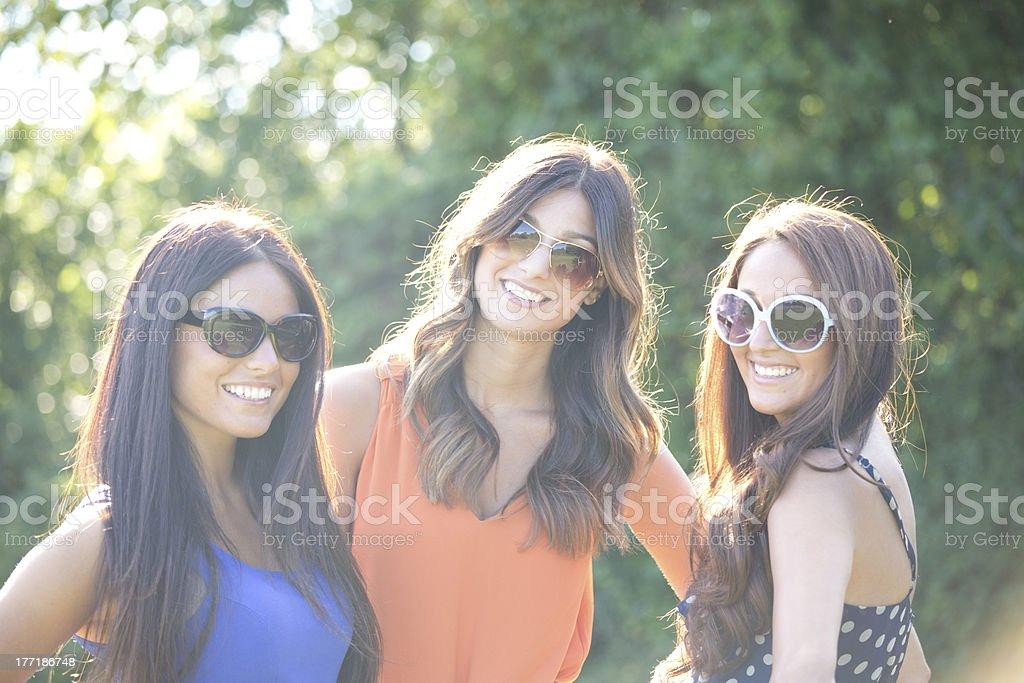 happy friends royalty-free stock photo