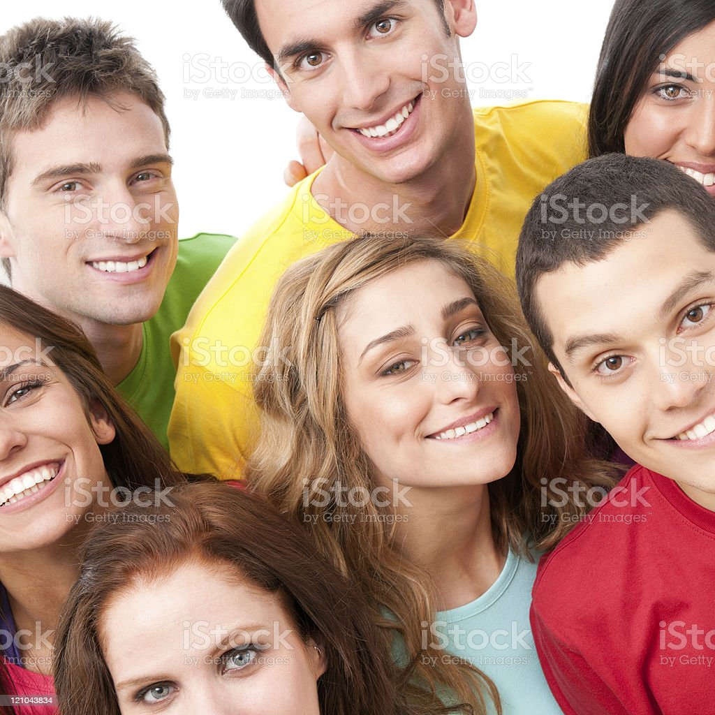 Happy friends portrait royalty-free stock photo