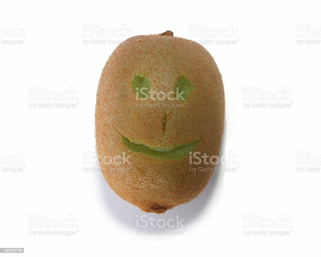Happy fruit - kiwi #2 royalty-free stock photo