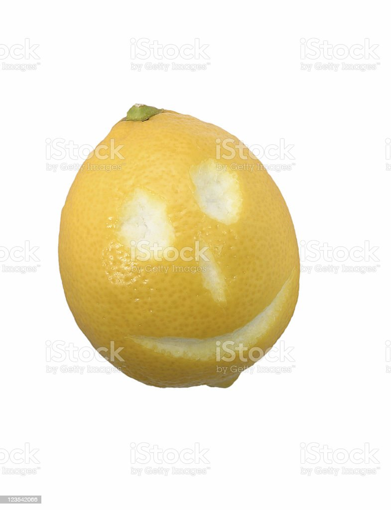 Happy fruits - lemon #2 royalty-free stock photo