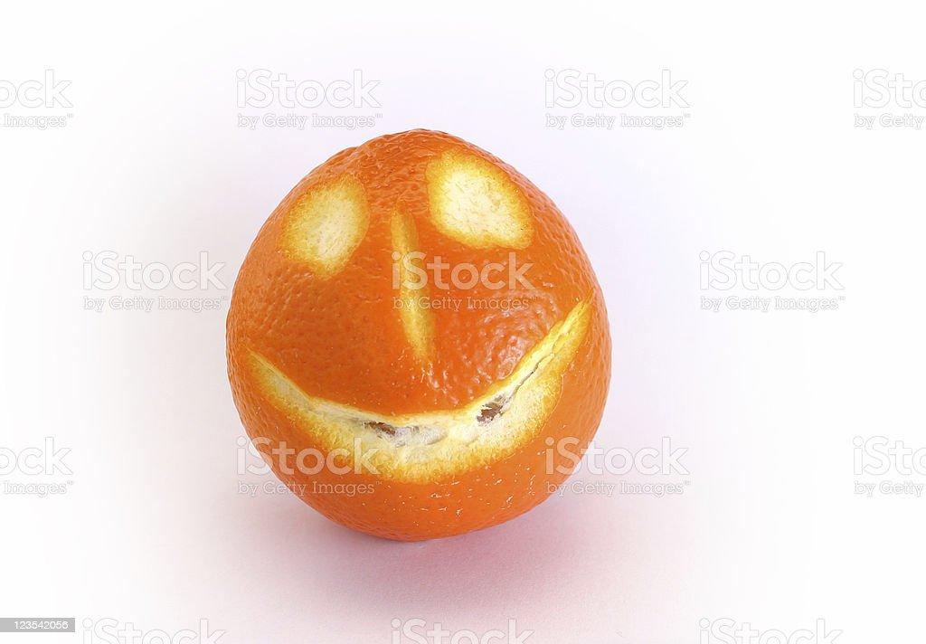 Happy fruits - orange #2 royalty-free stock photo