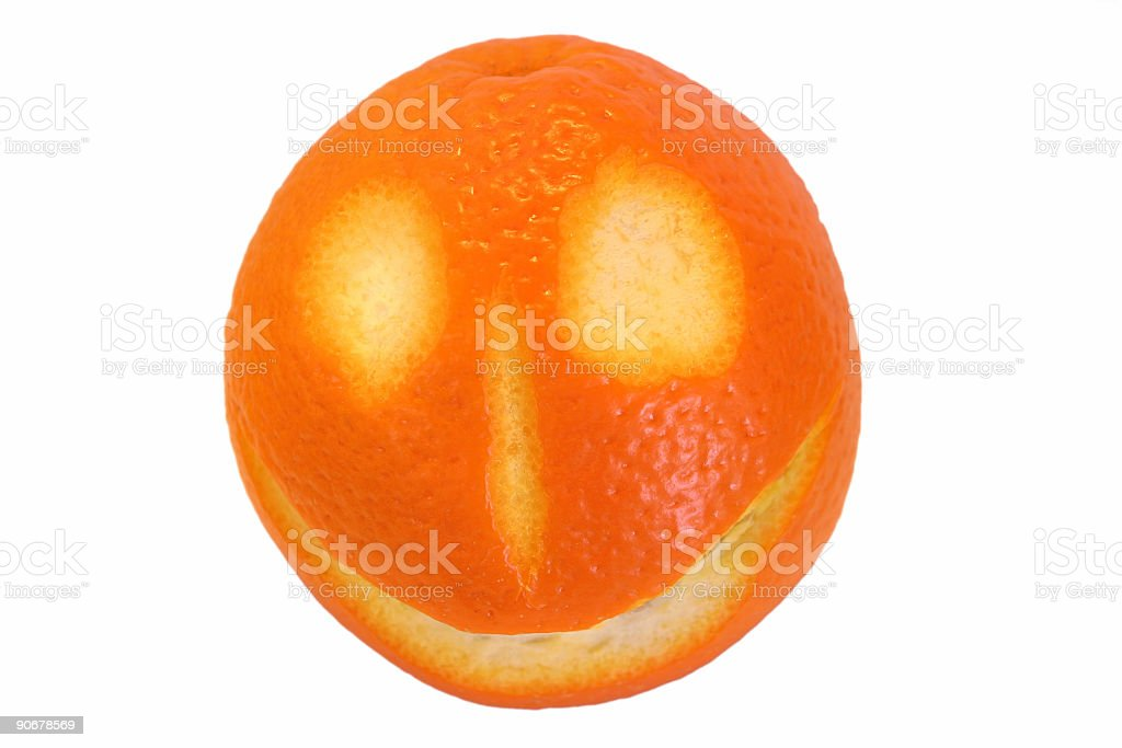 Happy fruits - orange #1 royalty-free stock photo