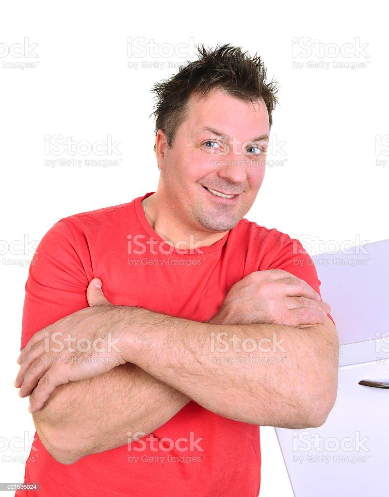 happy funny man stock photo