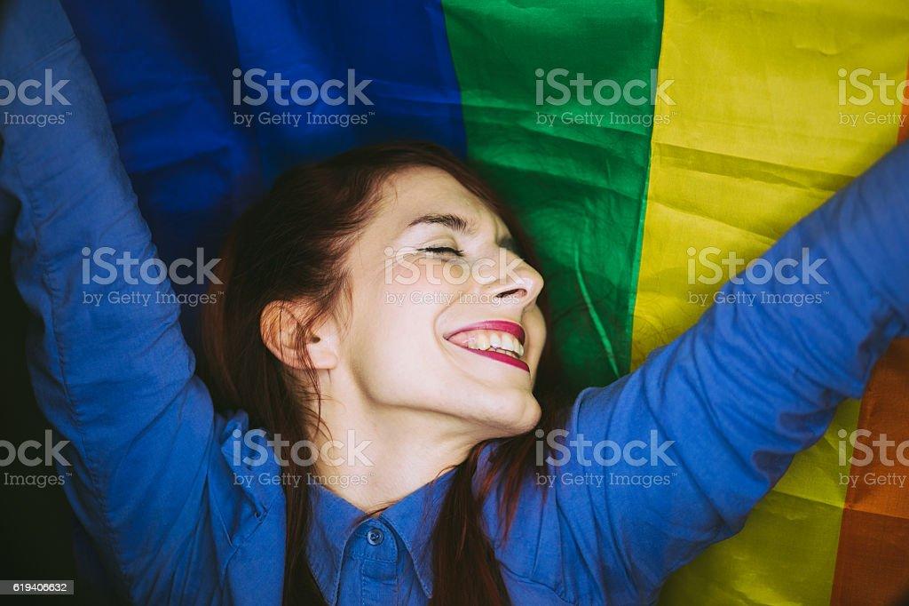 Happy Gay Girl stock photo