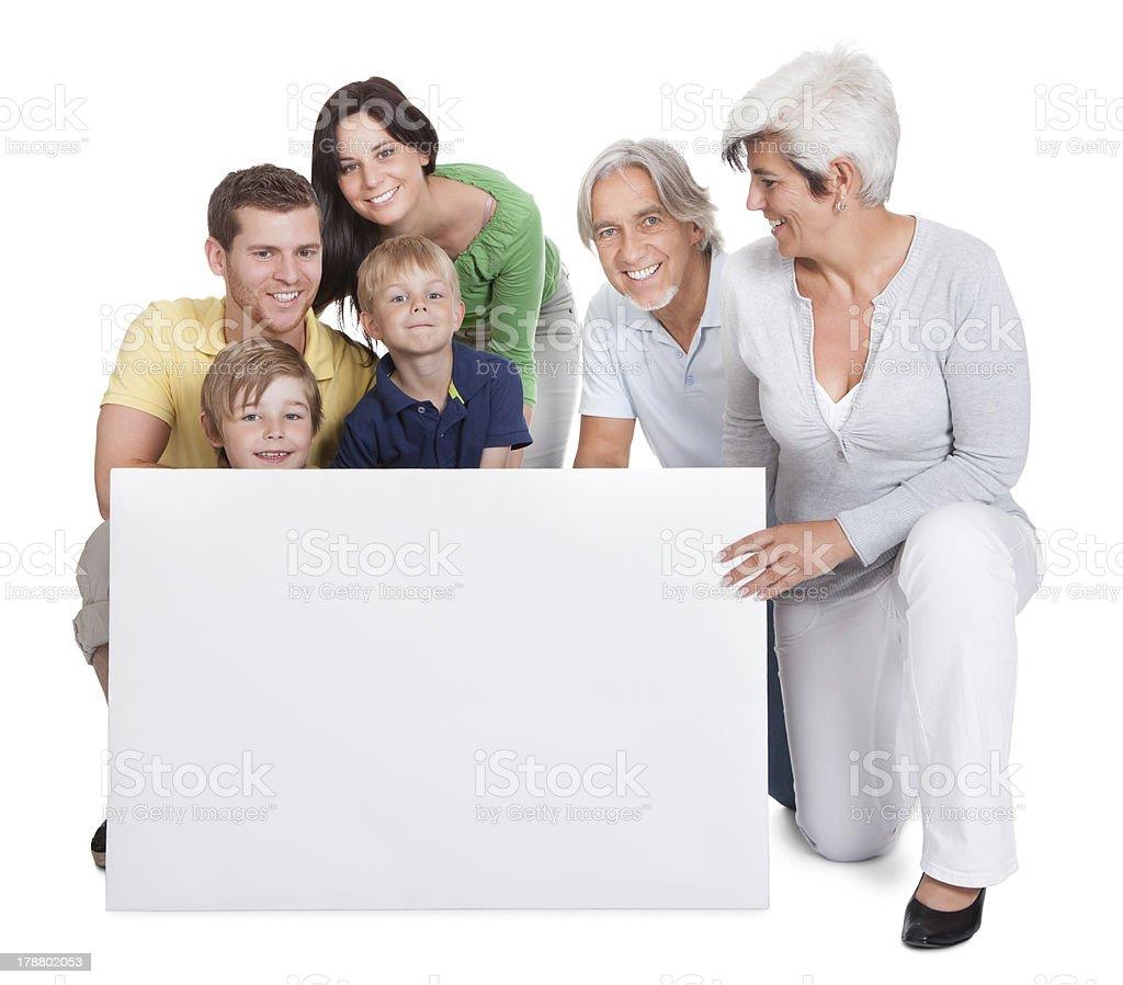 Happy generations family royalty-free stock photo