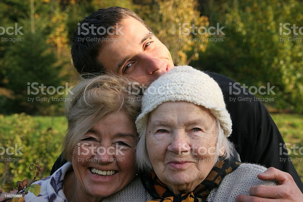 Happy generations - together:) royalty-free stock photo
