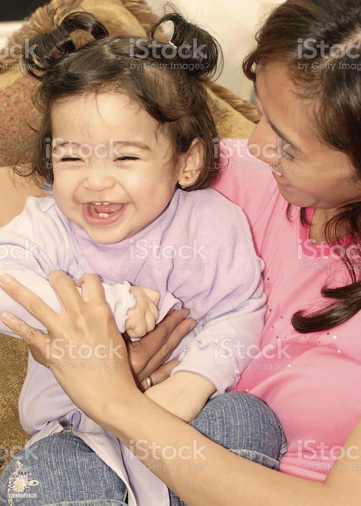 happy, Giggling baby girl royalty-free stock photo