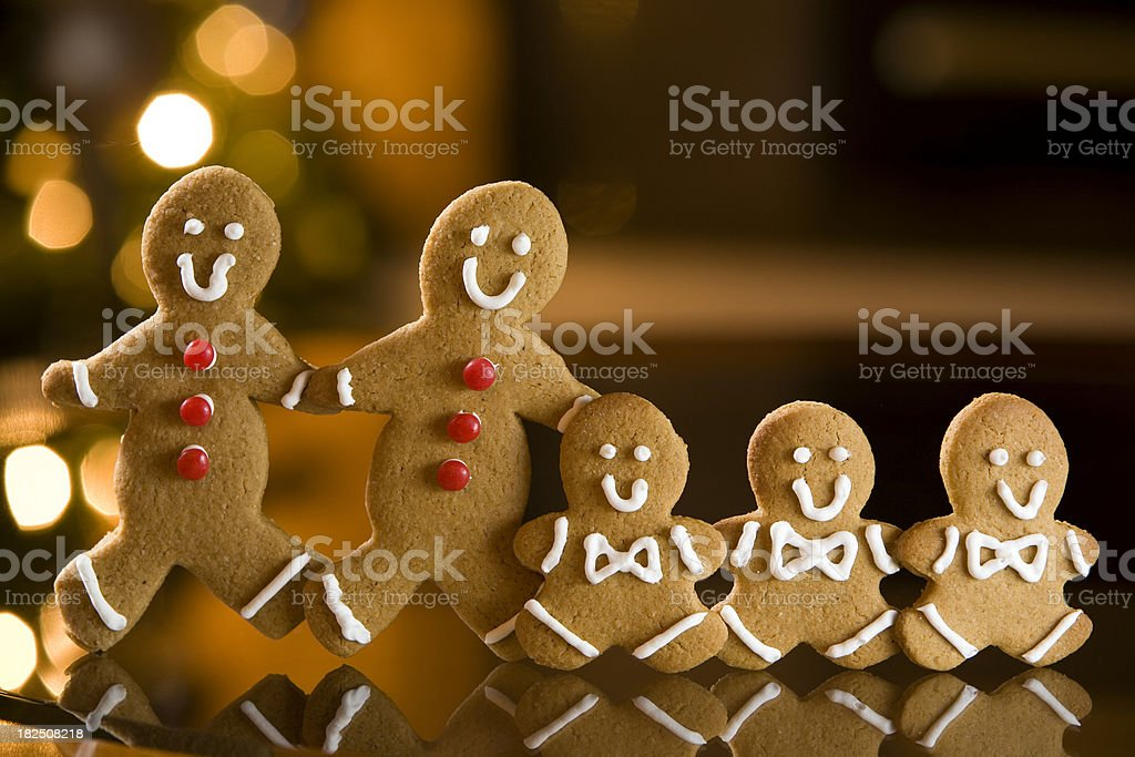 Happy ginger bread cookie family royalty-free stock photo