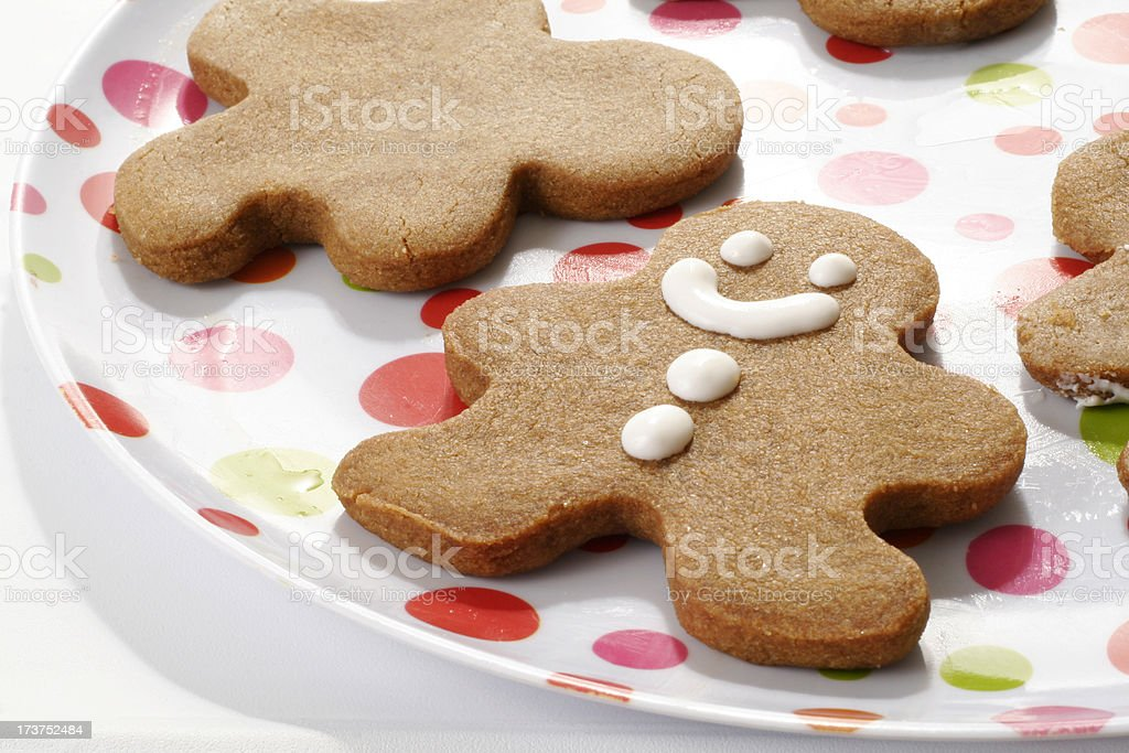 Happy Ginger Bread Man royalty-free stock photo