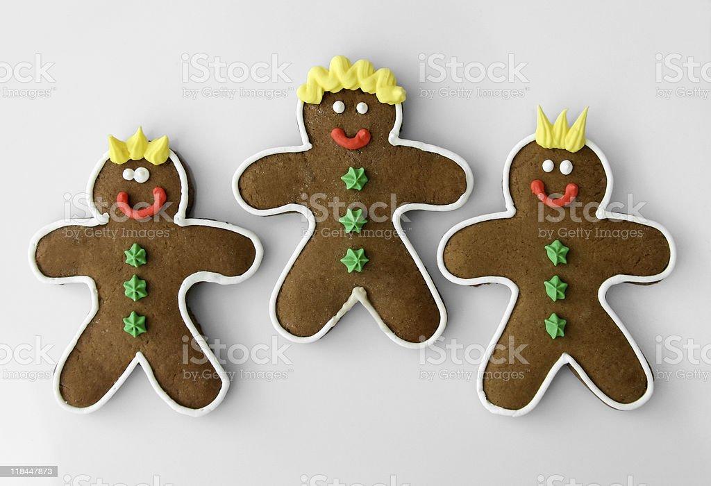 Happy Gingerbread Men stock photo