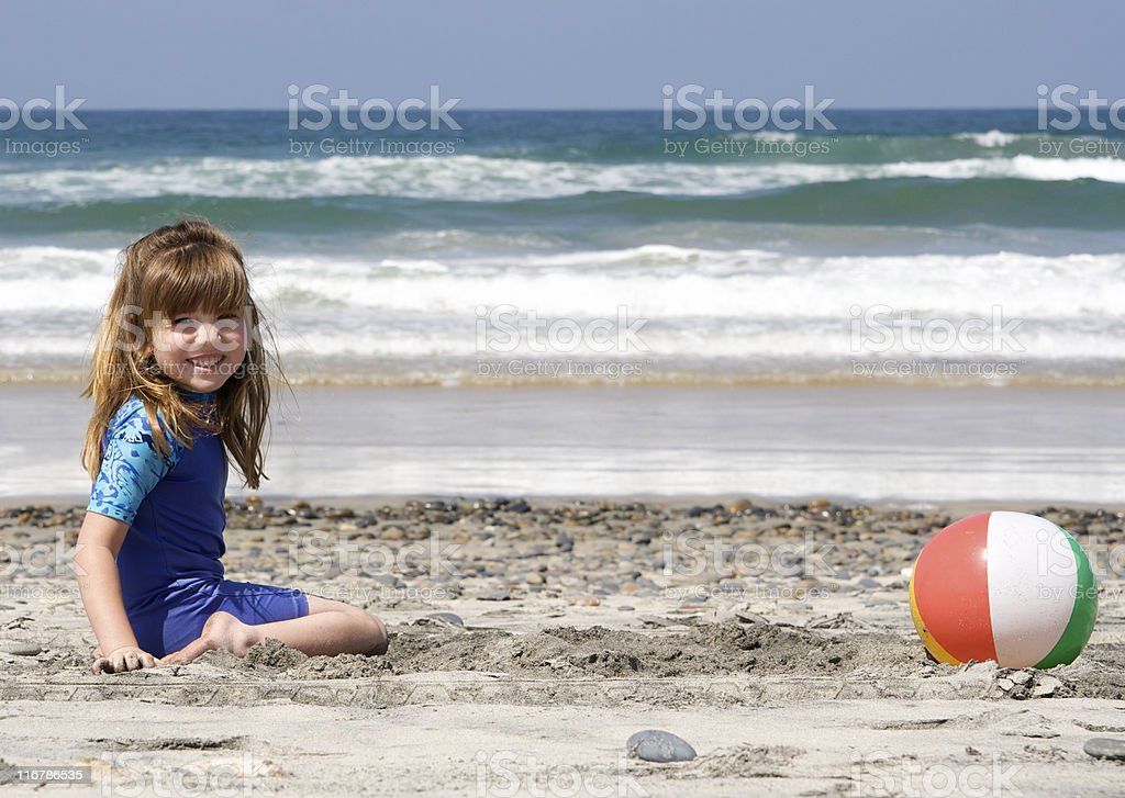 Happy Girl at the Beach royalty-free stock photo