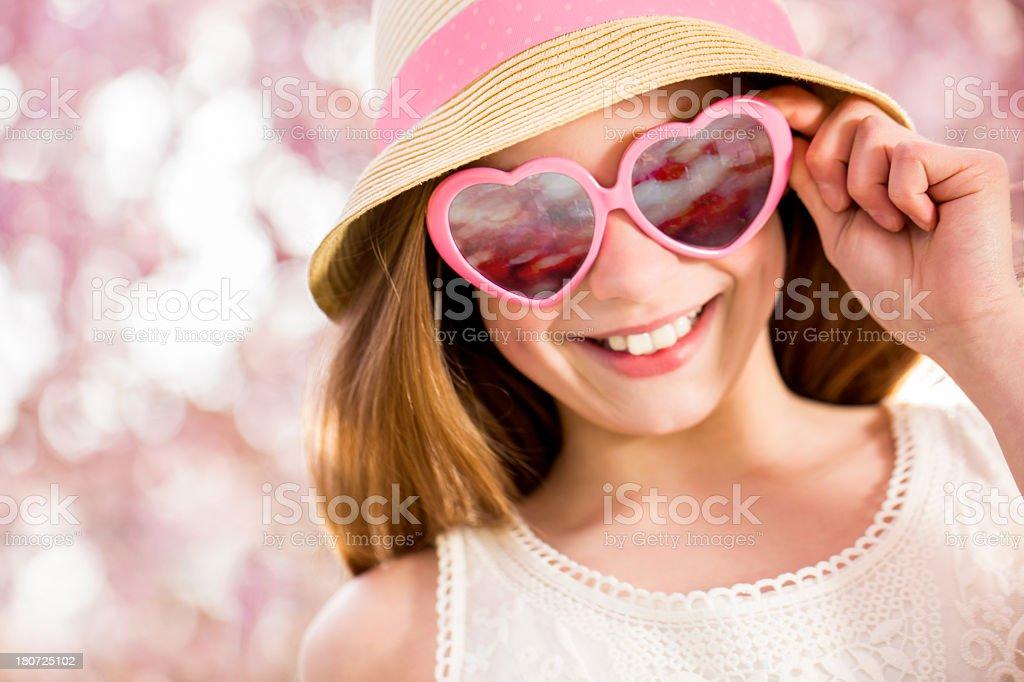 Happy girl having fun in park royalty-free stock photo