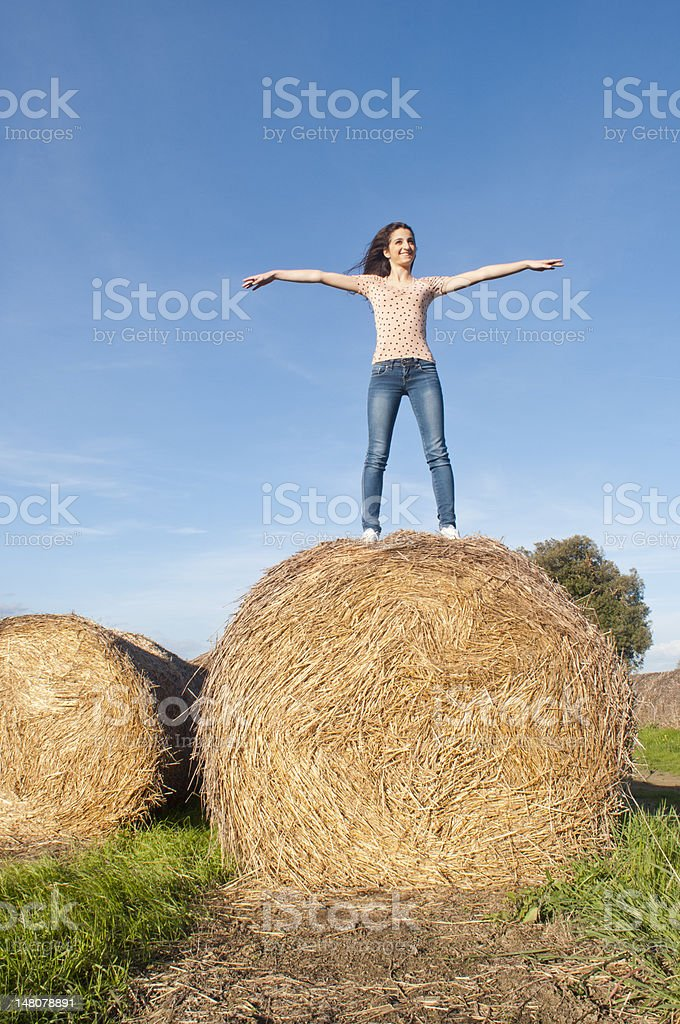 Happy girl in nature royalty-free stock photo