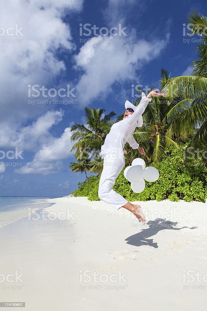 Happy Girl on the Beach royalty-free stock photo