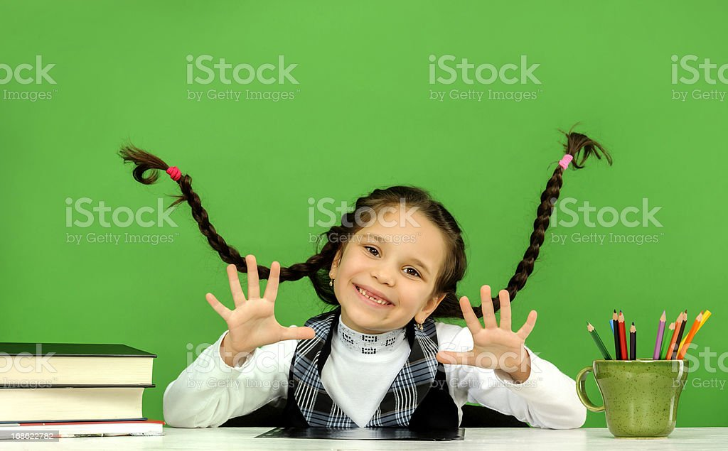 happy girl royalty-free stock photo