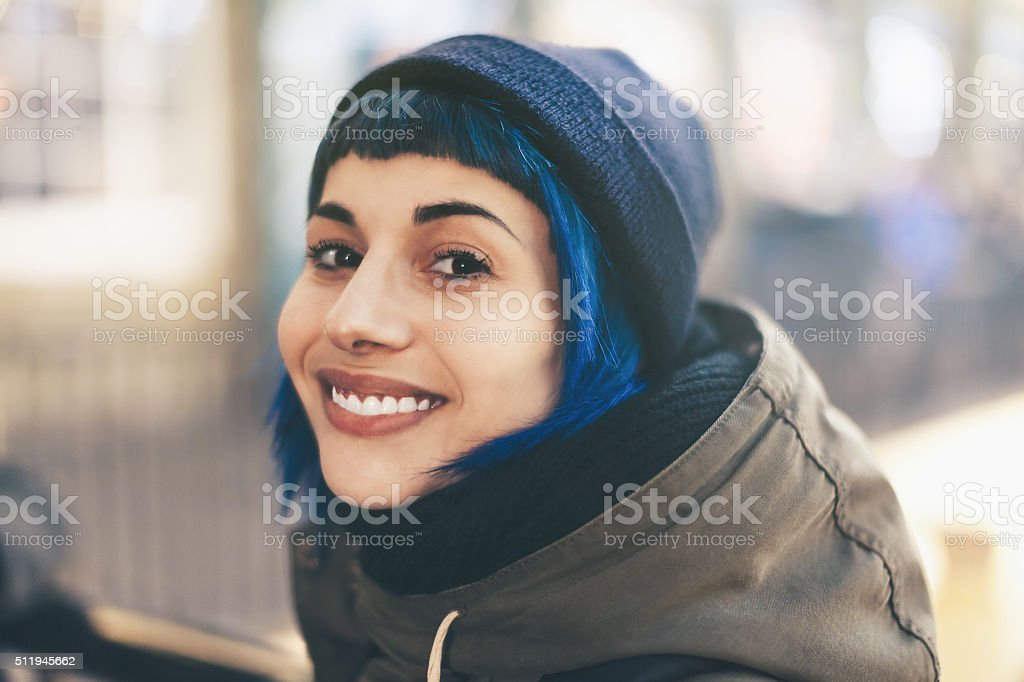 Happy girl stock photo