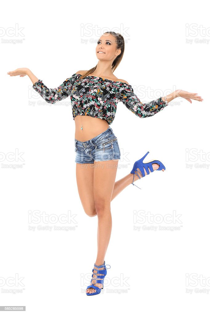 Happy girl stock photo