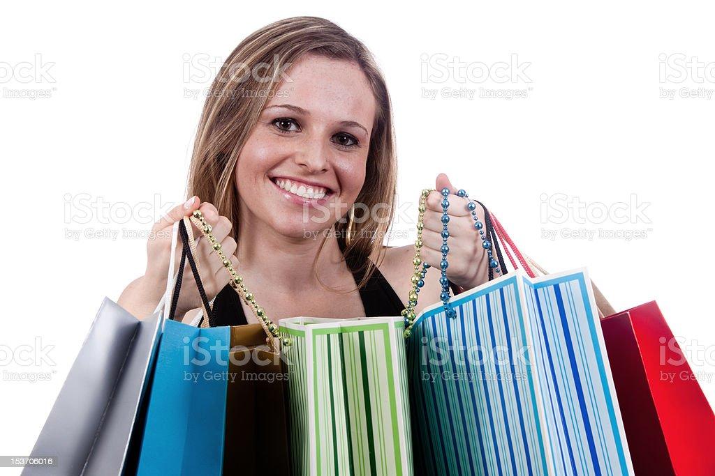 Happy Girl Shopping royalty-free stock photo