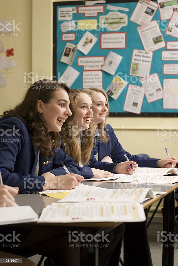 Happy Girls royalty-free stock photo