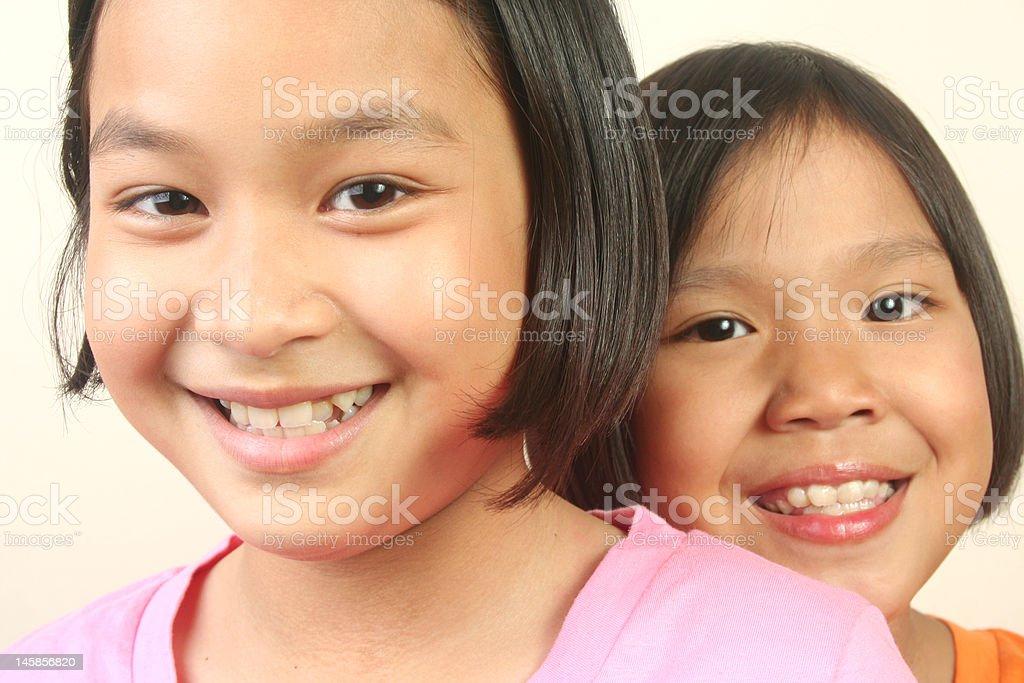 Glückliche Mädchen (Serie Lizenzfreies stock-foto