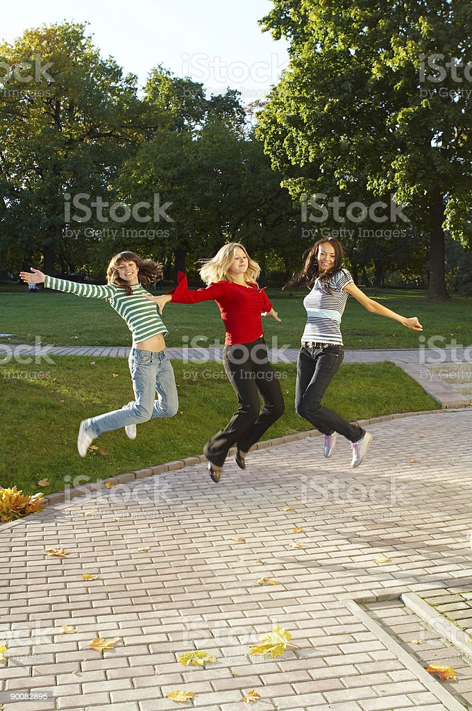 happy girls royalty-free stock photo