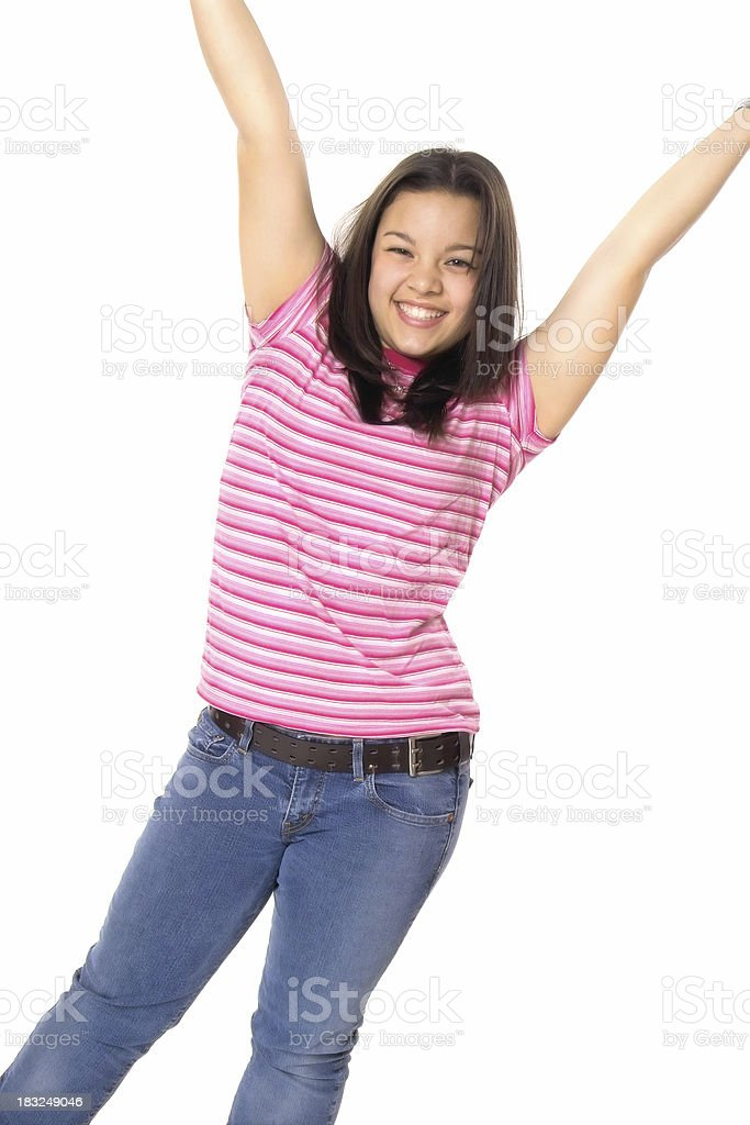 Happy Go Lucky Teen royalty-free stock photo