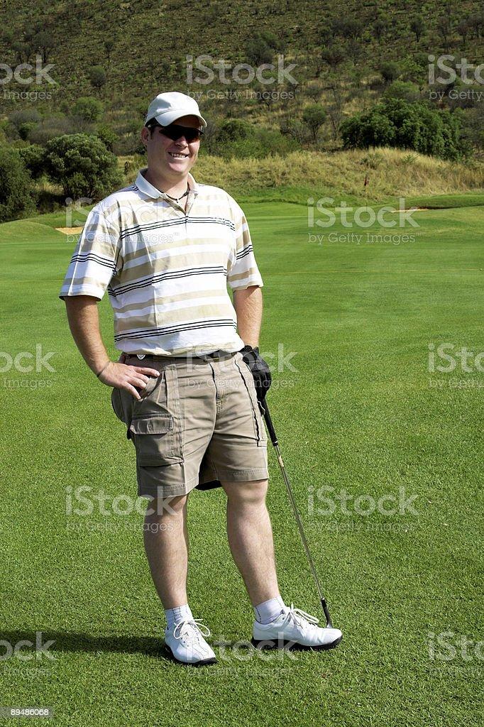 Happy golfer royalty-free stock photo