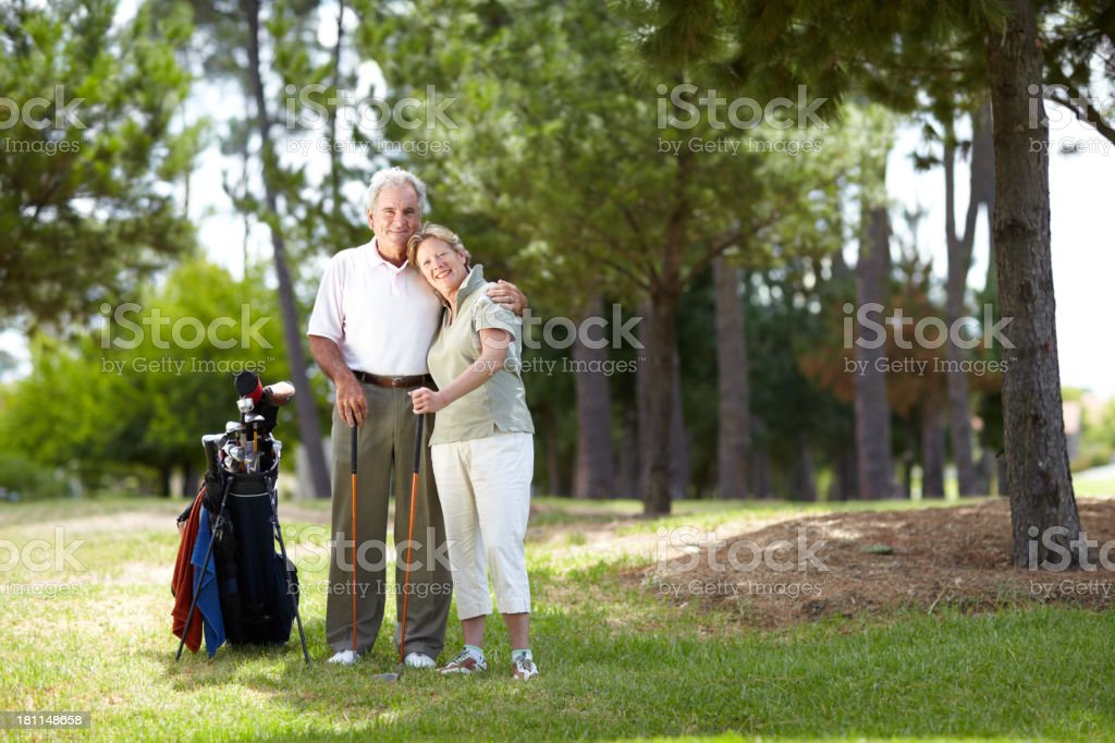 Happy Golfers stock photo