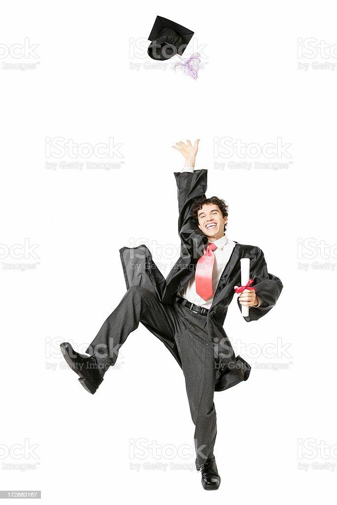 Happy graduate royalty-free stock photo