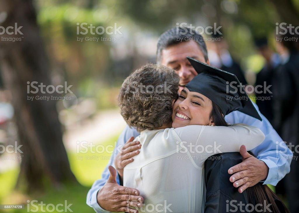 Happy graduation day stock photo