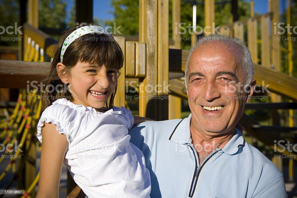 Happy grandfather royalty-free stock photo