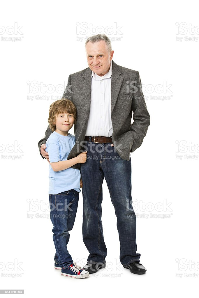 happy grandfather with grandchild royalty-free stock photo