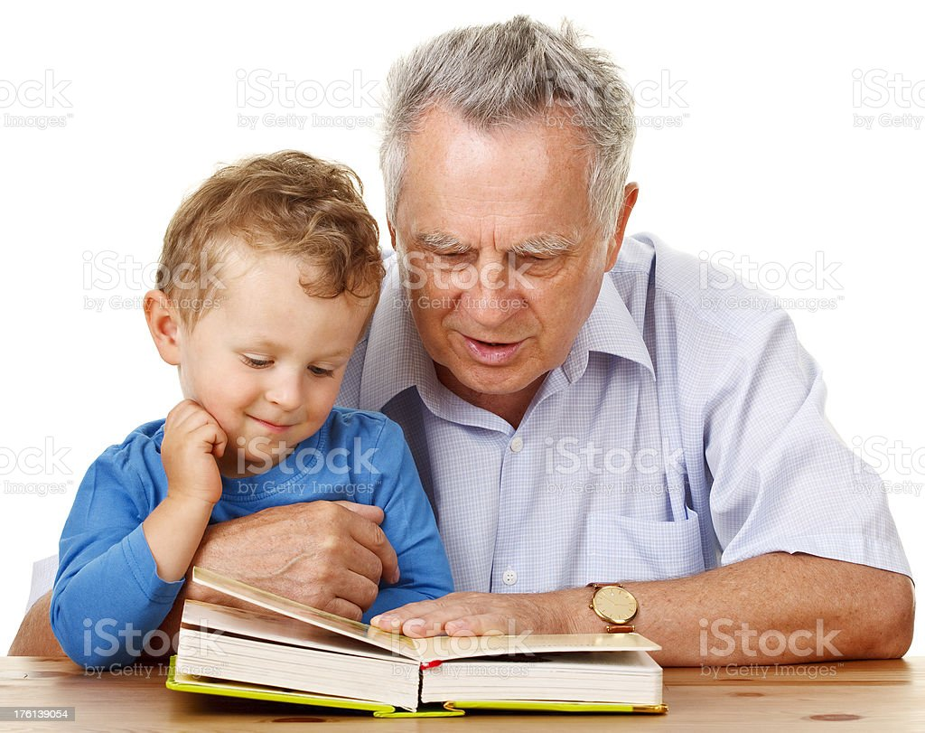 happy grandfather with his grandson royalty-free stock photo