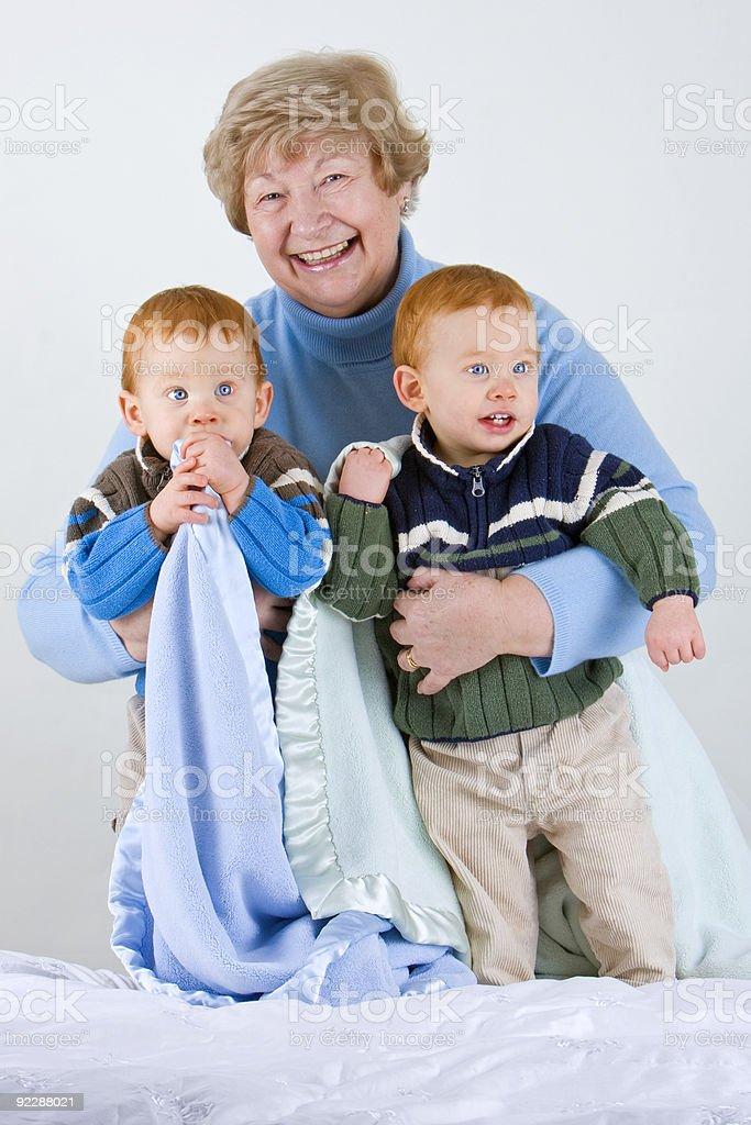 Happy grandmother royalty-free stock photo