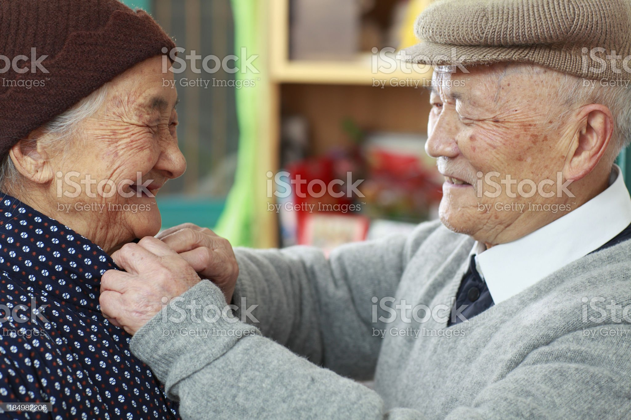 happy grandparents together royalty-free stock photo