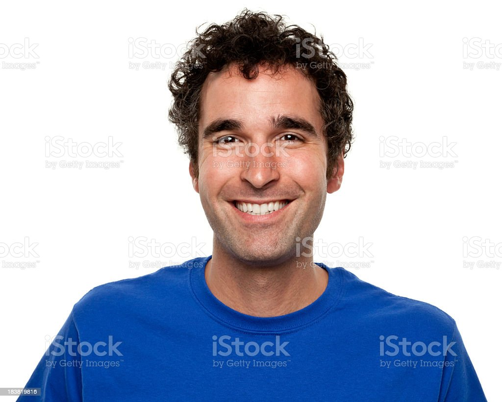 Happy Grinning Man Portrait stock photo