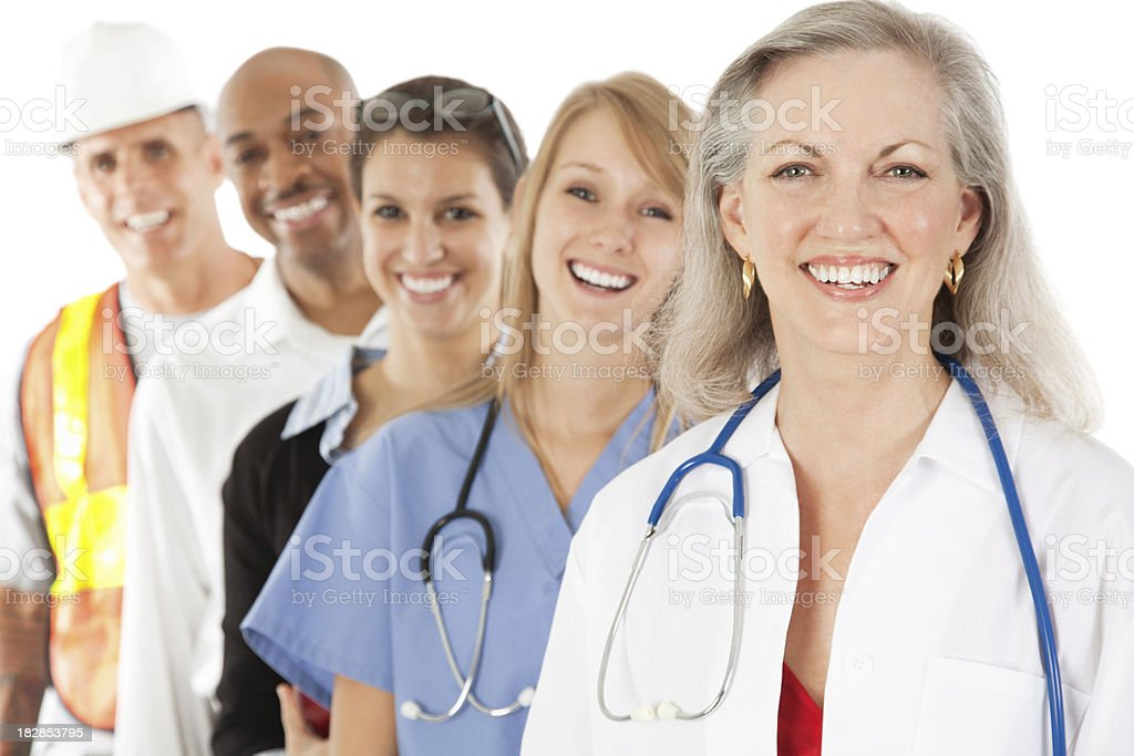 Happy Group of Diverse Professionals royalty-free stock photo