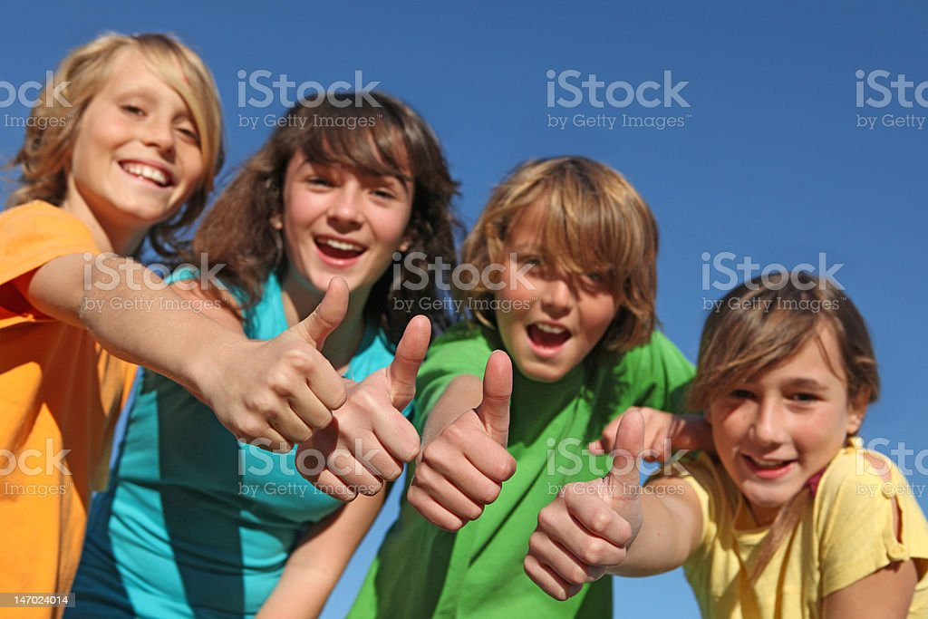happy group of kids royalty-free stock photo