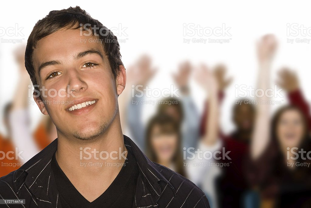 Happy Group royalty-free stock photo