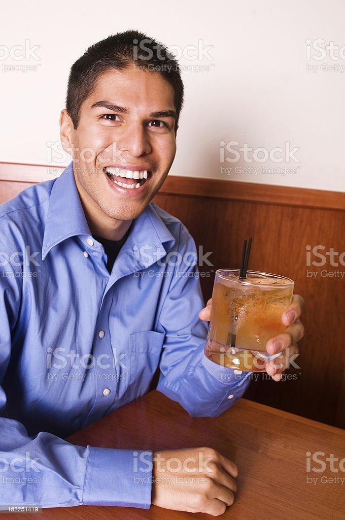 Happy Guy at the Bar stock photo