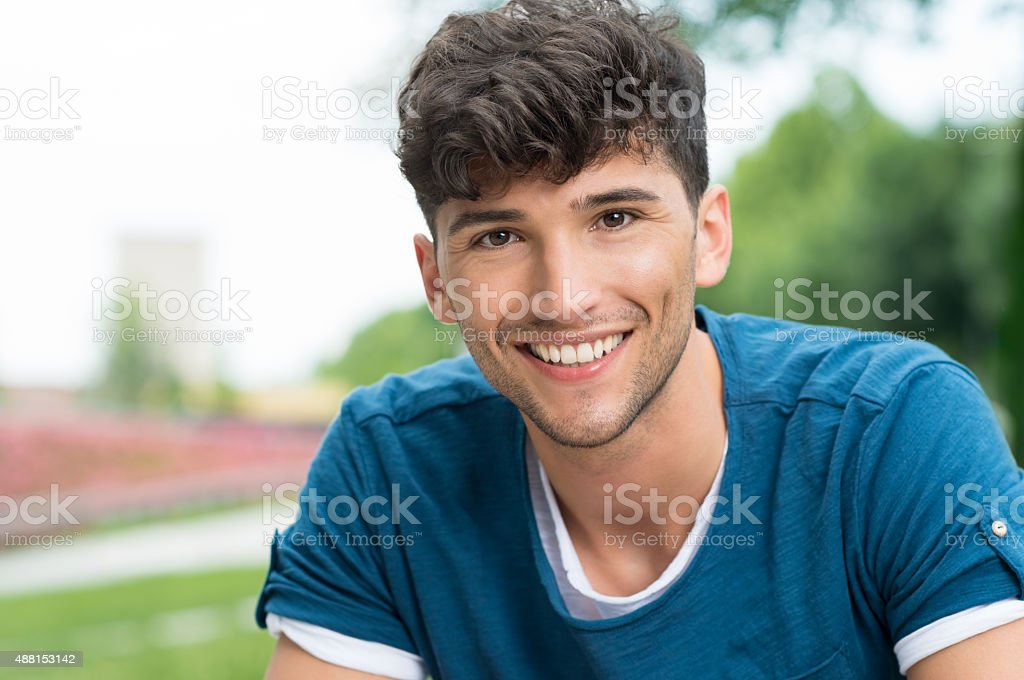 Happy guy stock photo