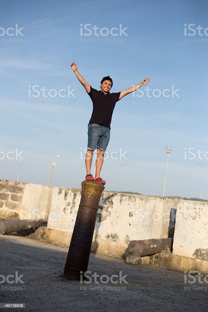 Happy guy royalty-free stock photo